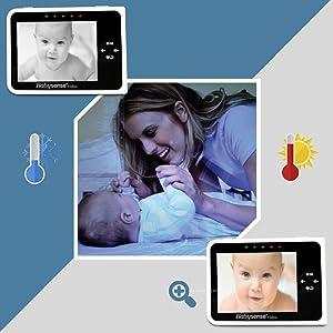 Babysense V35 night vision temperature alerts digital zoom