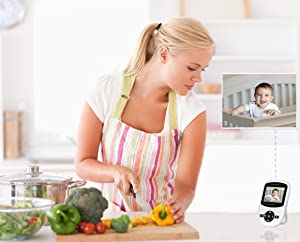 Babysense video monitor audio two-way talk back with your baby