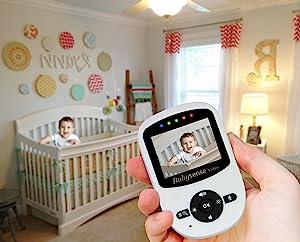 Babysense video monitor portable wireless long range monitor