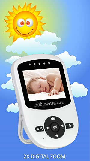 Babysense video Baby Monitor with difital zoom and night vision