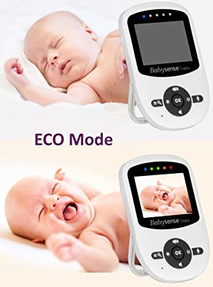 Babysense baby monitor with ECO VOX mode with sound activation