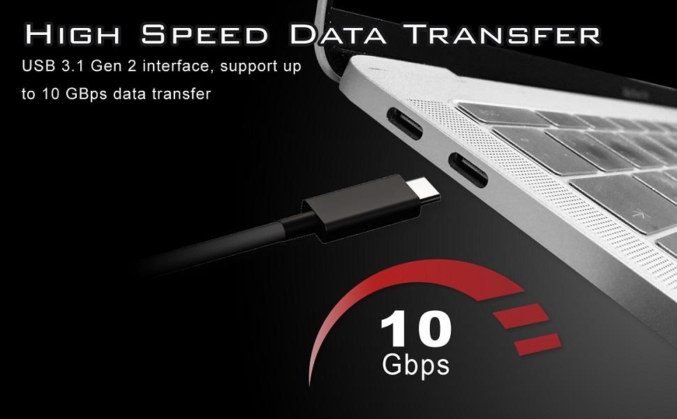 960GB, G703K Archgon G70 Series Portable External USB 3.1 Gen 2 M.2 SSD