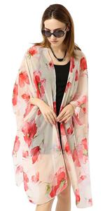 Women Flower Kimono Cardigan