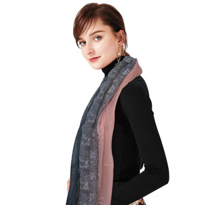 Pink Gray Ombre Scarf