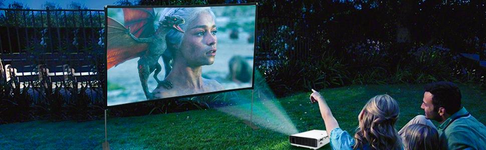 projector screen outdoor