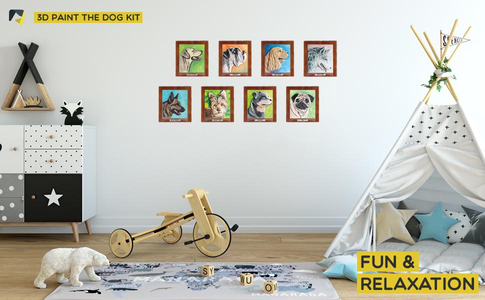 Amazon.com: Juego de terapia artística – Kit de pintura 3D ...