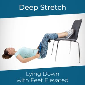 Teeter P2 Back Stretcher, Lying Down with Feet Elevated, Deep Stretch