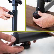 Teeter Sit-Stand Desk, ergonomic adjustable workstation, stable work surface