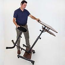 Easily transport or store, rolling desk