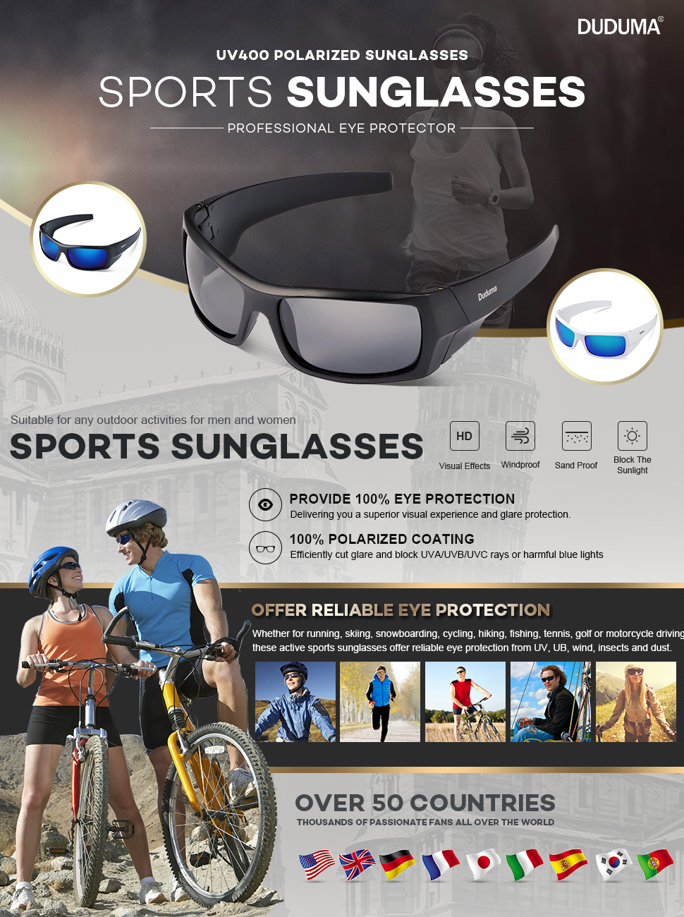 ef934a20afe Duduma Tr601 Polarized Sports Sunglasses for Baseball Cycling ...