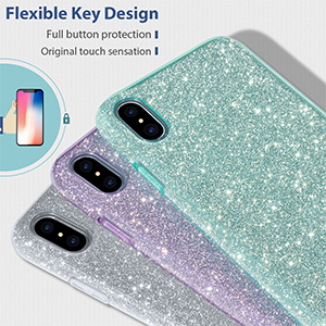 MATEPROX iPhone Xs Max Case for Girls Fashion Cute Crystal Clear Glitter e37ccbfba