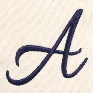 custom ballent embroidered font