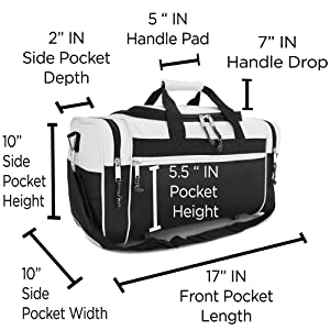 DF-019-White 4 X Side Compartments