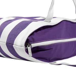 shopping tote zippered main compartment