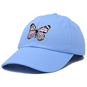 H-201-Butterfly-1 Dad Cap 100% Cotton