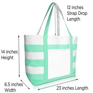 tote bag overall dimensions
