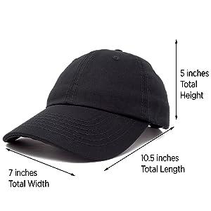 d85512439 DALIX Baseball Cap Dad Hat Plain Men Women Cotton Adjustable Blank  Unstructured Soft