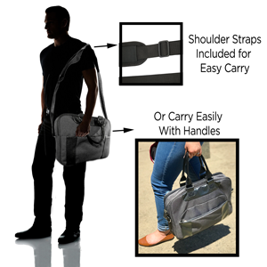 shoulder strap included along with carry handles