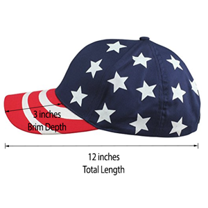 50979d0877bc Amazon.com  DALIX Hat Pro-Style USA Stars and Stripes Cap American ...