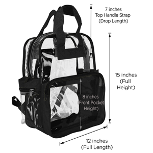 0480b039c3d8 Amazon.com  DALIX Clear Backpack School Security Safe Events  Sports ...