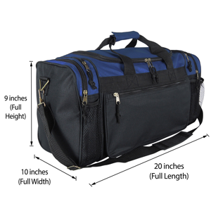 f822b4edbc Amazon.com  Dalix 20 Inch Sports Duffle Bag with Mesh and Valuables ...