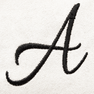 custom ballent embroidered font