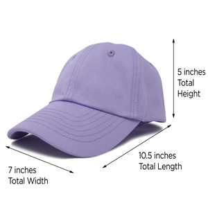 hat sizing and 100% cotton