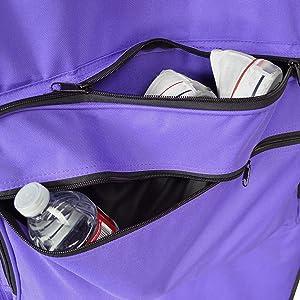 purple garment bag