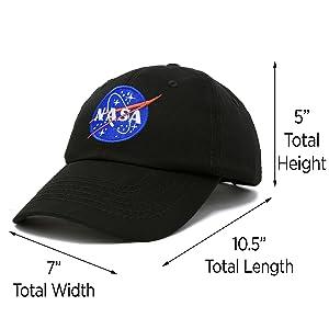 H-005-NASA Dad Cap 100% Cotton