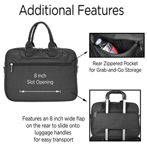 additional features included with the briefcase