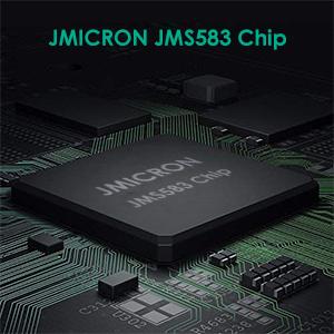 USB 3 1 Type C to M 2 NVME Enclosure Aluminum Case, Type-C Gen2 10G JMICRON  JMS583 Chip