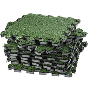 Amazon Com Interlocking Grass Tiles Artificial Grass