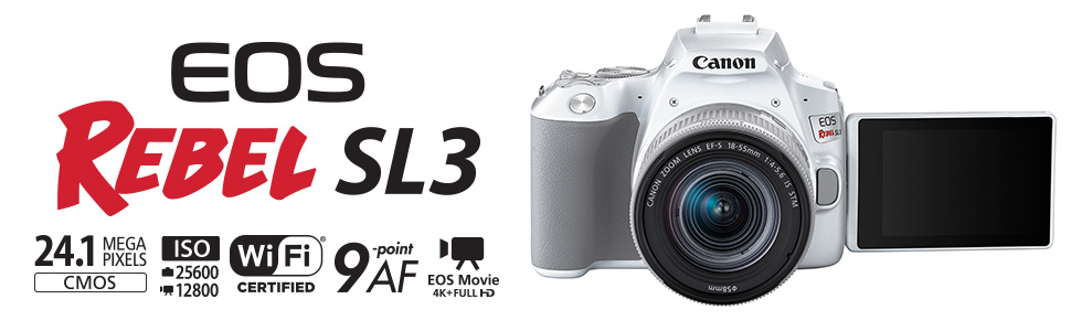 Canon EOS REbel Sl3 and it's features
