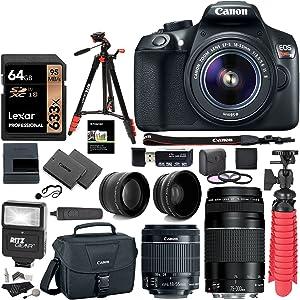 Canon T6 4 lens bundle setup