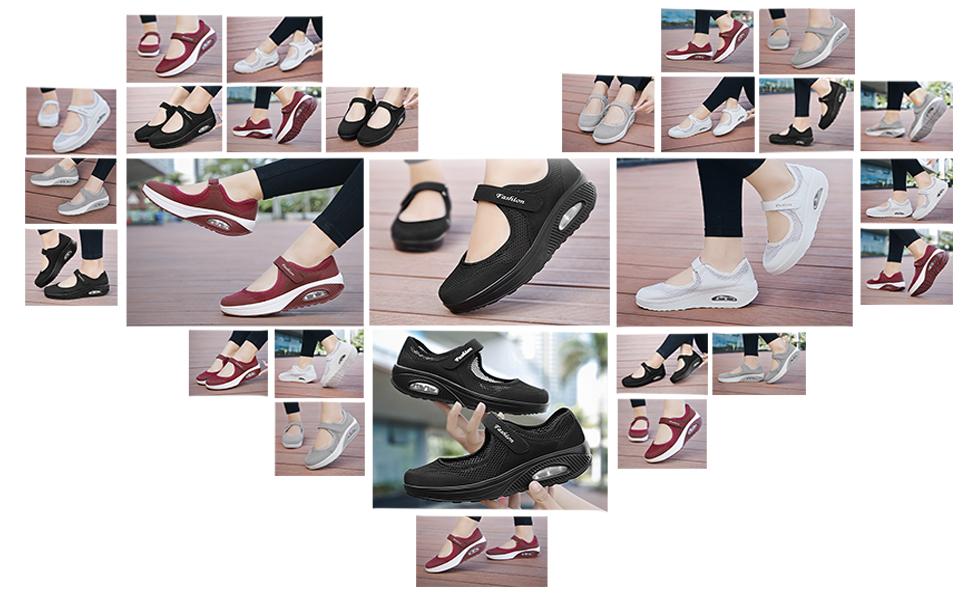 Amazon.com: Zapatillas de trabajo para enfermera, cómodas ...