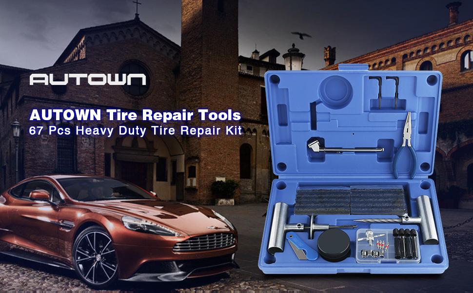 Amazon.com: Kit de reparación de neumáticos AUTOWN ...