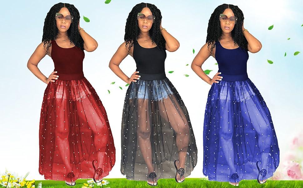 sheer mesh tank dress