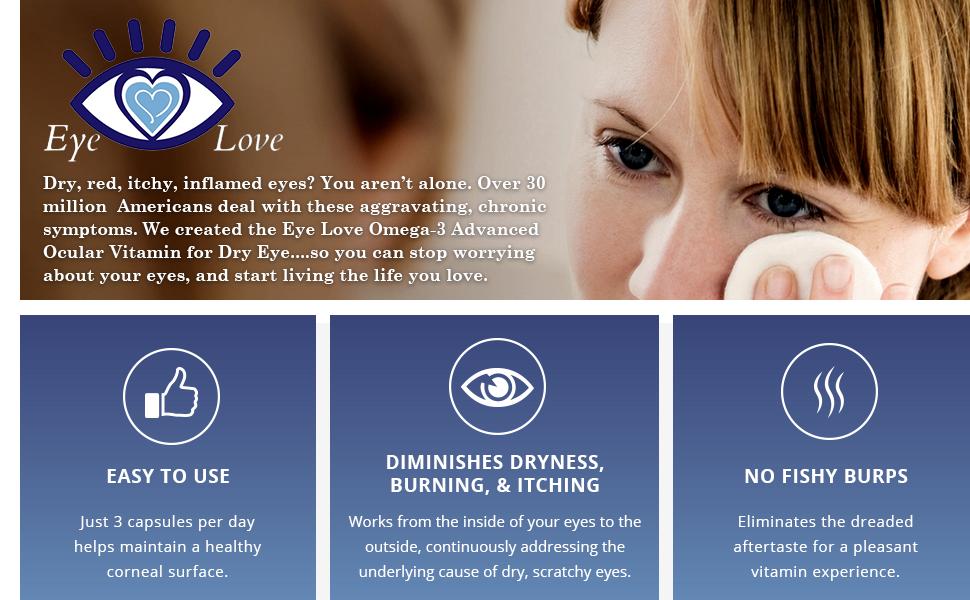 Omega 3 dry eye supplement by eye love for Prn fish oil