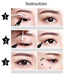 Double-headed Eyeliner Pen Stamp Black Waterproof Tearproof Long Lasting Painting Makeup Tool