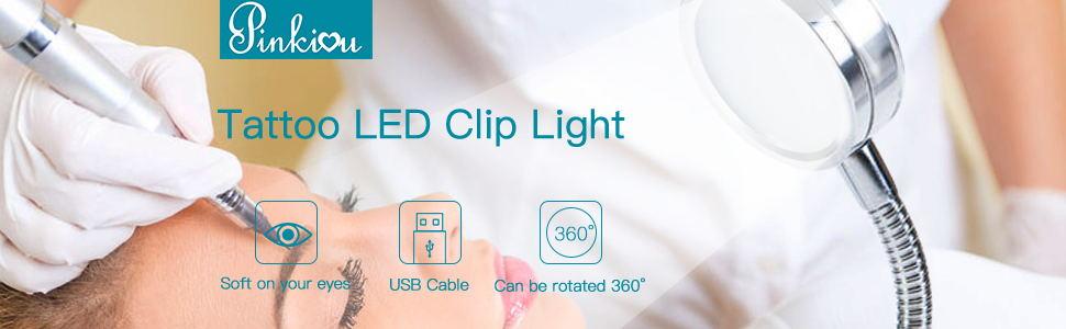 Desk Lamp Clip Microblading USB Portable LED Light Permanent Makeup Eyebrow Tattoo Manicure Salon
