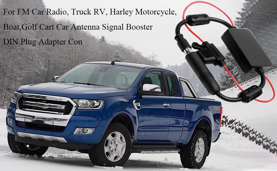 lovelifeast de cristal universal para coche AM//FM Antena de radio amplificador Booster amplificador de TV de la ventana Auto 12/V