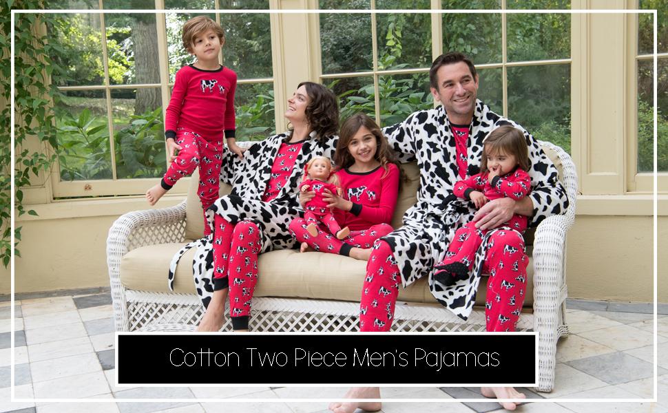 Leveret, men's pajamas, mens pj, cotton pajamas, family matching pajamas, pajama sets for men