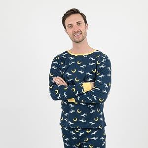 Leveret, Pajamas cotton pajamas, men pajamas, mens pajamas, panda, wolf, family pajamas
