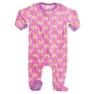 Amazon.com  Leveret Fleece Baby Girls Footed Pajamas Sleeper Kids ... 96ef10d9e