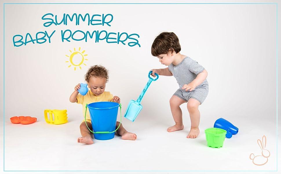 Leveret, Baby Romper, Baby Girl Romper, Baby Basics, Baby Boy Romper, Summer Romper, Stripes