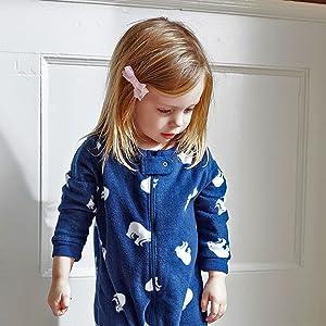 Leveret, Fleece Pajama, Baby Pajama, Fleece footed Pajama, Polar Bear, Winter Pajamas, Matching PJs