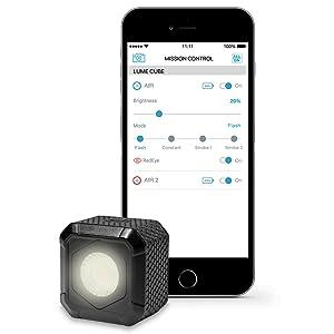 Lume Cubo Impermeable BLUETOOTH LED Luz para la creación de contenido de foto Video negro