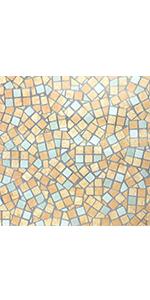 Green Mosaic Pattern Pvc Wall Sticker Bathroom Waterproof
