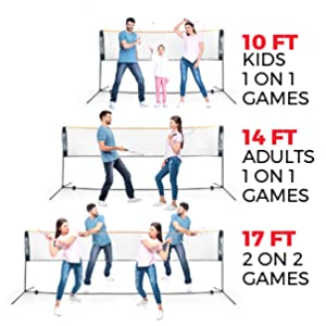badminton tennis net portable sports with stand with frame