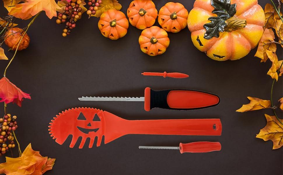 Amazon kinrex pumkin carving kit tools jack o lantern